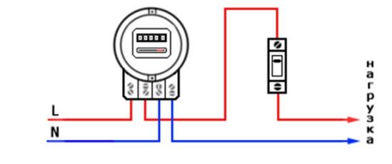 Схема подключения 1-фазного